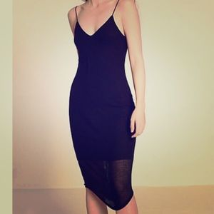 Express midi ribbed dress
